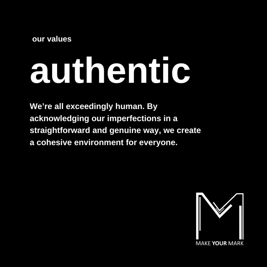 authentic value description recognising we are all human.